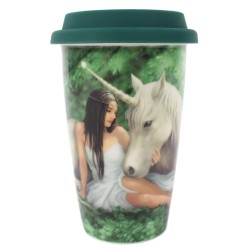Anne Stokes Travel Mug Pure Heart