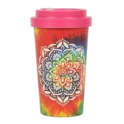 Bamboo Travel Mug Rainbow Mandala
