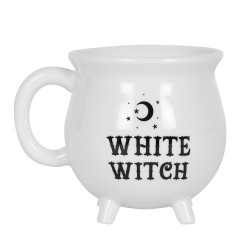 Cauldron Mug White Witch