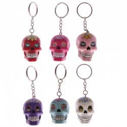Skull Keyring Day Of The Dead