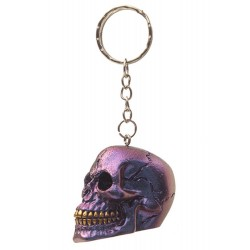 Skull Keyring Metallic Purple