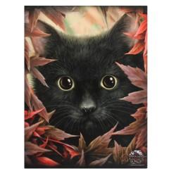 Cat Small Canvas Print-Autumn Cat