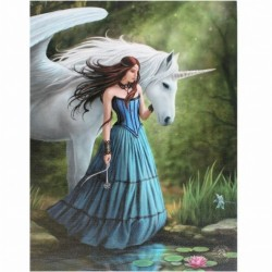 Anne Stokes Small Canvas Print Enchanted Pool