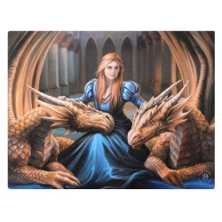 Anne Stokes Small Canvas Print Fierce Loyalty