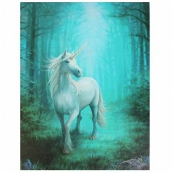 Anne Stokes Small Canvas Print Forest Unicorn