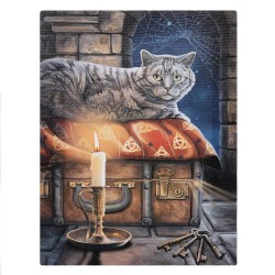 Lisa Parker Small Canvas Print-Keeper of Secrets