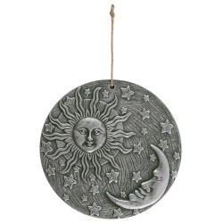 Terracotta Wall Plaque Sun & Moon