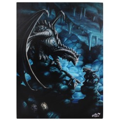 Anne Stokes Small Canvas Print Age Of Dragons Rock Dragon