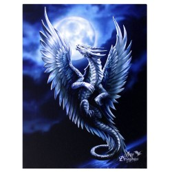Anne Stokes Small Canvas Print Age Of Dragons Silver Dragon