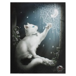 Cat Small Canvas Print-Snow Kitten