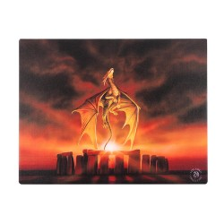 Anne Stokes Small Canvas Print Dragon Solstice