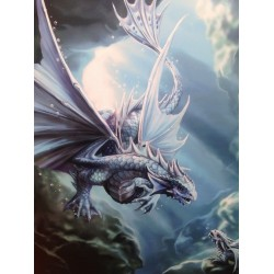 Anne Stokes Small Canvas Print Age Of Dragons Water Dragon