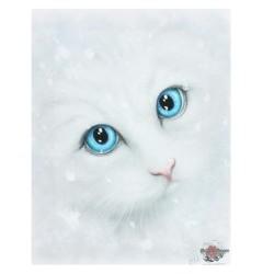 Cat Small Canvas Print-Winter Cat