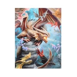 Anne Stokes Small Canvas Print Dragon Clan