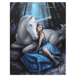 Anne Stokes Small Canvas Print Blue Moon