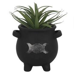 Cauldron Plant Pot Triple Moon