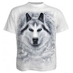 Spiral White Wolf Unisex T-Shirt