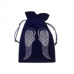 Tarot/Oracle Card Velvet Bag Angel Wings Blue