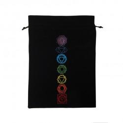 Tarot/Oracle Card Velvet Bag Chakra Large