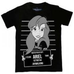 Twisted Apparel The Little Mermaid Ariel Mugshot T-Shirt