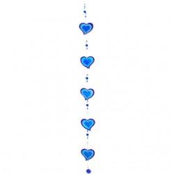 Heart String Suncatcher Blue