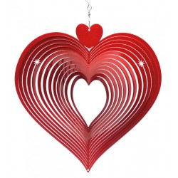 Windspinner Large Red Heart