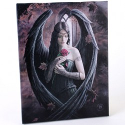 Anne Stokes Small Canvas Print Angel Rose