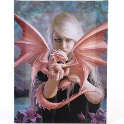Anne Stokes Small Canvas Print Dragon Kin