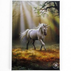 Anne Stokes Small Canvas Print Glimpse Of A Unicorn