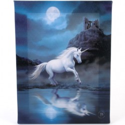 Anne Stokes Small Canvas Print Moonlight Unicorn