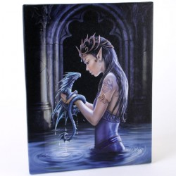 Anne Stokes Small Canvas Print Water Dragon
