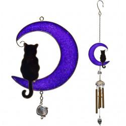 Cat In Moon Windchime