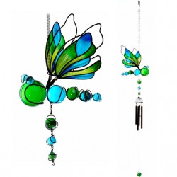 Dragonfly Windchime-Blue/Green-Large