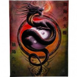 Anne Stokes Small Canvas Print Yin Yang Protector