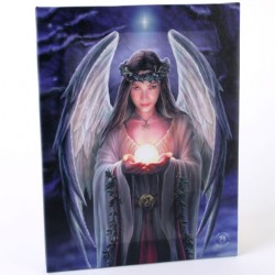 Anne Stokes Small Canvas Print Yule Angel